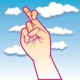 korsat finger Arkivfoton