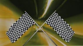 Korsat springa flaggor som hänger från en pol royaltyfri illustrationer