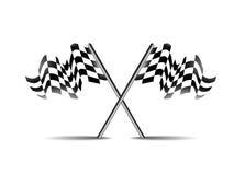 Korsat symbol för vektor för loppflaggasymbol Arkivfoto