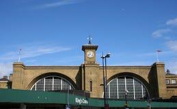 korset görar till kung den järnväg stationen Arkivbilder