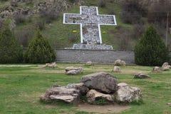Korset i det Rupite klosterkomplexet - sydvästlig Bulgarien nära Petrich Royaltyfria Bilder