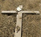 Korset och spikar Arkivfoto