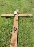 Korset och spikar Arkivbild
