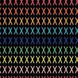 korset planlägger praktiskt olikt för modell mycket seamless vektor för modell Färgrik regnbågefärgmodell med x-tecken Rosa rött, royaltyfri illustrationer