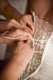 Korsett der Braut Stockbild