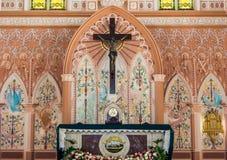 Korsfästelse av Jesus Christ, offentligt ställe Arkivbilder