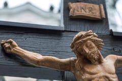 Korsfästelse jesus. bra fredag och easter Royaltyfria Bilder