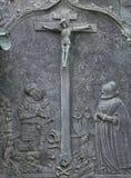 Korsfästelse på fasaden av domkyrkan för St Stephen ` s i Wien Royaltyfria Bilder