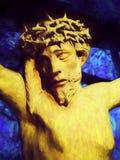 KorsfästelseJesus Christ Contemporary målning Arkivbilder