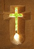 korsfönster Arkivbild
