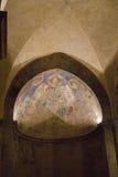 Korsfarare-era frescoes fragmenterar i Benedictinekloster, Abu Ghosh, arkivfoto