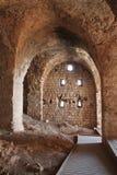 Korsfarare Hall, fördärvar av den Yehiam fästningen, Israel royaltyfria bilder