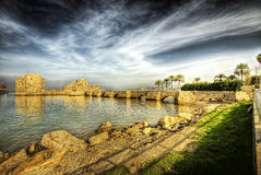 Korsfararehavsslott, Sidon (Libanon) Arkivbilder