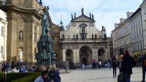 Korsfararens fyrkant på Prague Arkivbilder