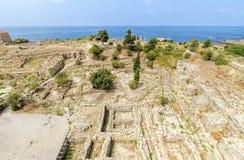 Korsfarareslott, Byblos, Libanon Arkivbilder