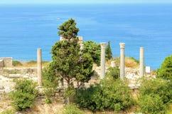 Korsfarareslott, Byblos, Libanon Arkivbild