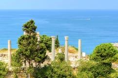 Korsfarareslott, Byblos, Libanon Royaltyfri Bild