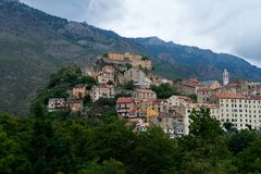 Korsika Corte royaltyfria foton