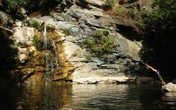 Korsika-Fluss Stockfotografie
