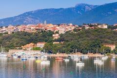 Korsika-Insel, Frankreich Altes Porto-Vecchio stockbild