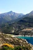 Korsika-Landschaft eines Strandes Lizenzfreies Stockfoto
