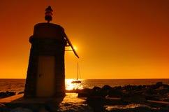 Korsika-Leuchtturm Stockfotografie