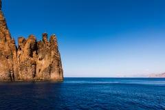 Korsika parkerar den nationella naturen Scandola royaltyfri bild