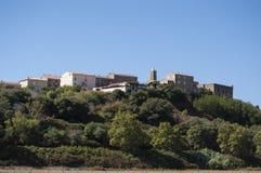 Korsika sydliga Korsika, bygd, sätta sig, citadellen, Frankrike, Europa, sommar, lopp Fotografering för Bildbyråer