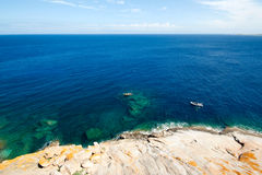 Korsika-Wasser (Frankreich) Lizenzfreie Stockfotos