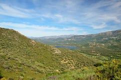 Korsikansk kust Balagne Arkivbilder