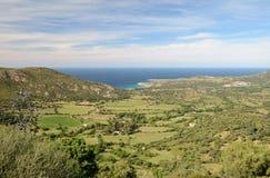 Korsikansk kust Balagne Arkivfoton