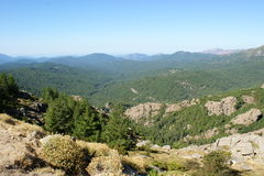 Korsikanska berg Arkivbilder