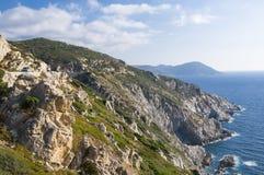Korsische Küstenlinie stockfoto