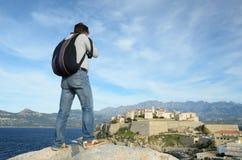 Korsische Stadt Calvi Lizenzfreie Stockbilder