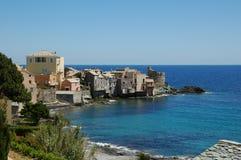 Korsisches Dorf Stockfotos