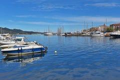Korsisches Hafen Heiliges-Florent Lizenzfreies Stockfoto