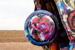 Korsning Amerika, Amarillos färglegend royaltyfria foton