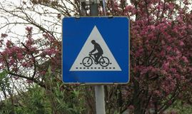 Korsning för gränd för cykelgrändaka cirkulering fotografering för bildbyråer