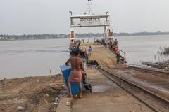 Korsning Mekong River Arkivbild
