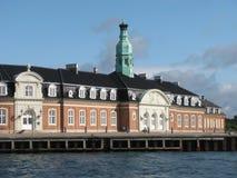 Korsor. Terrific looking historic building curving around the harbor at Korsor, Denmark royalty free stock image