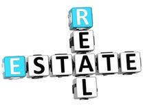 korsord för 3D Real Estate Royaltyfri Illustrationer