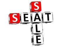 korsord för 3D Seat Sale stock illustrationer