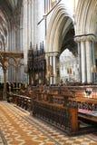 Korstolar i kor av den Worcester domkyrkan, England Fotografering för Bildbyråer