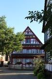 Korsvirkes- hus i Kehl-Kork Royaltyfria Foton