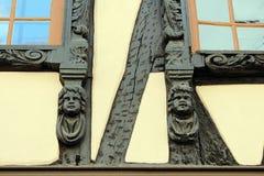 Korsvirkes- hus i Straßbourg Royaltyfri Foto