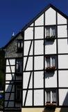 Korsvirkes- tyskt hus Arkivbilder