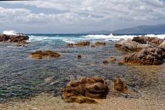 Korsykanina wybrzeże z Ajaccio zdjęcie royalty free