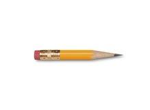 Kort blyertspenna Royaltyfri Fotografi