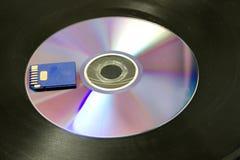 kort cd sd arkivbild