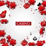 Kort Chips Casino Poker Royaltyfria Bilder